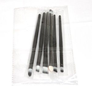 Set of 6 Makeup Brushes Black NWT